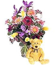 Spring Fling Get Well Bouquet & Bear