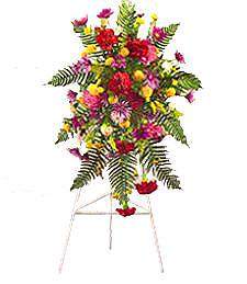 Multicolor Standing Funeral Spray