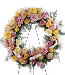 Vibrant Sympathy Funeral Wreath