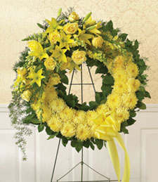 Monochromatic Sunshine Wreath