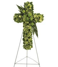 Invigorating Moments Cross Wreath