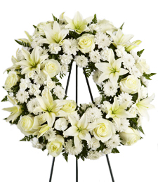 Far and Away Sympathy Wreath