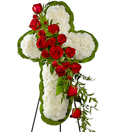 Cross of Elegance Standing Spray