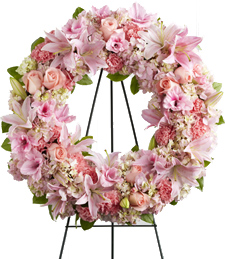 Gentle Kisses Sympathy Wreath