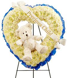 My Precious Little One Sympathy Wreath